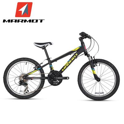 Marmot土撥鼠兒童自行車男女式單車童車山地自行車20寸鋁合金兒童山地車