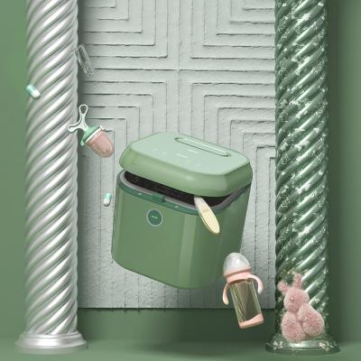 babycare紫外線奶瓶消毒柜 消毒器帶烘干 多功能嬰兒奶瓶不銹鋼消毒鍋柜 爵士綠-靜謐藍 8800S