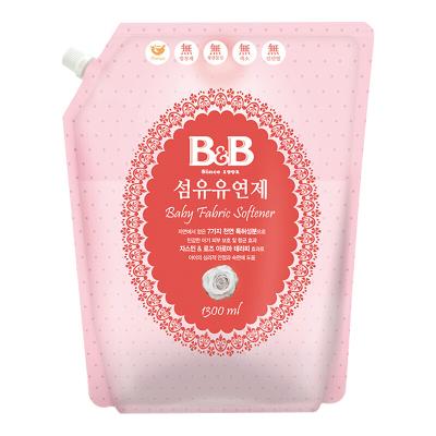 保寧B&B 寶寶柔順劑 嬰兒衣物纖維柔順劑(柔和香)補充裝1300ml