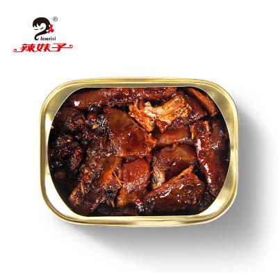 辣妹子 豆豉香辣酥骨鱼110g 鱼罐头下饭菜即食鱼类罐头方便速食零食休闲罐装小吃