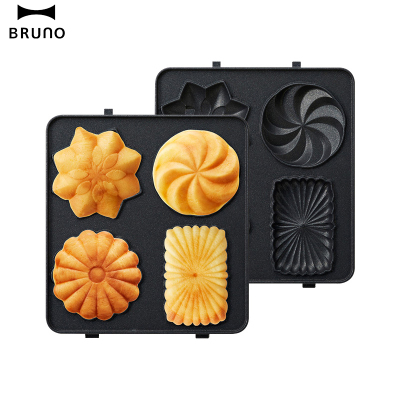 日本BRUNO 蛋糕烤盘mini BOE043-GATEAU 轻食机配件【mini蛋糕盘】烤盘