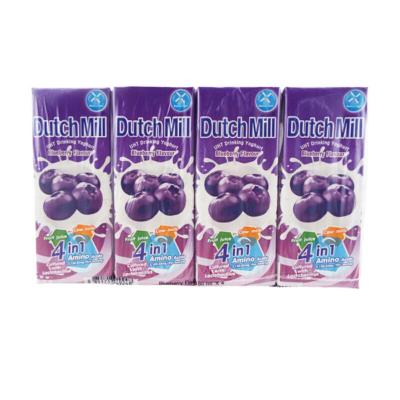 達美藍莓味180ml×8盒裝果味酸奶早餐下午茶宵夜學生兒童飲品營養乳制品