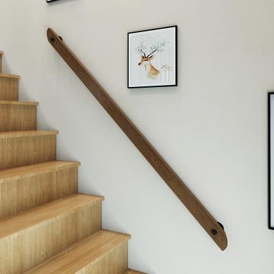 歐式靠墻木樓梯扶手實木別墅閣樓室內家用防滑拉手幼兒園走廊扶手 180長*8cm高兩個固定點