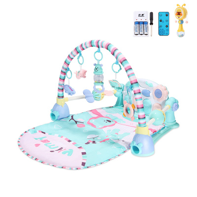 貝恩施嬰兒腳踏琴鋼琴健身架器新生兒寶寶音樂兒童玩具0-1歲3個月 Family貝尼獅子【套餐三】