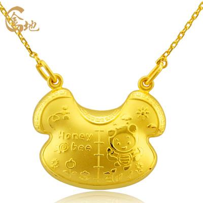 金地珠寶 足金豐衣足食寶寶套鏈A款 寶寶黃金項鏈