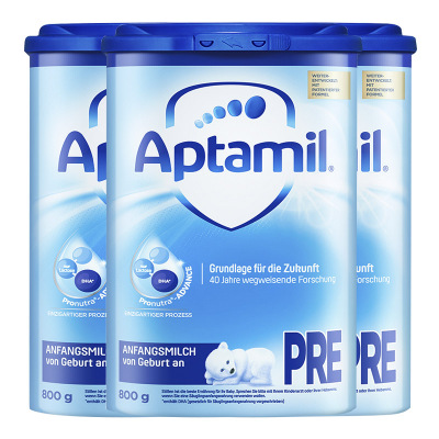 【3罐裝】德國進口愛他美(aptamil) HMO升級 嬰幼兒配方奶粉海外 易樂罐 pre段(0-6個月)800g/罐