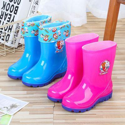 伯孜媚(Baizimei)2-10歲兒童雨鞋男女水鞋加絨加棉卡通膠靴水靴雨靴防滑膠鞋雪地靴