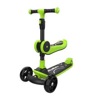 預售(4.1發貨)優貝滑板車兒童2-3-4-6歲寶寶小孩溜溜車滑滑車發光輪折疊
