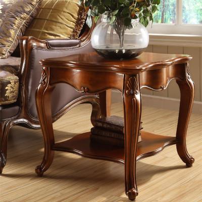 妙旭美式實木邊幾 沙發角幾方幾復古小茶幾邊桌歐式客廳家具電話桌