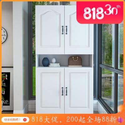 汐巖簡約經濟型歐式防曬陽臺儲物柜大容量帶衣柜雜物柜陽臺時尚櫥柜