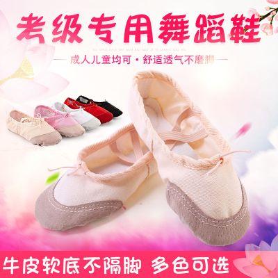 零溪成人兒童帆布軟底舞蹈練功鞋男女瑜伽芭蕾舞鞋軟底貓爪練功舞蹈鞋