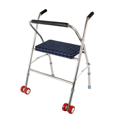 不銹鋼帶輪帶座老年人助步車助走器手推車殘疾扶手