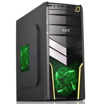 大水牛(BUBALUS)尖刀台式电脑机箱办公游戏背线防尘静音ATX机箱