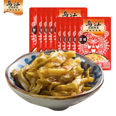 烏江涪陵榨菜微辣榨菜絲80g*10袋開味佐餐下飯菜咸菜蔬菜小菜