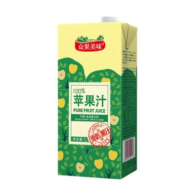 众果100%纯果汁 1L装苹果汁