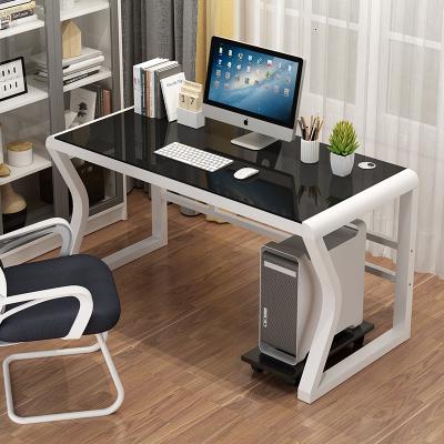 鋼化玻璃電腦臺式桌家用簡約現代學生辦公桌寫字臺簡易學習書桌子