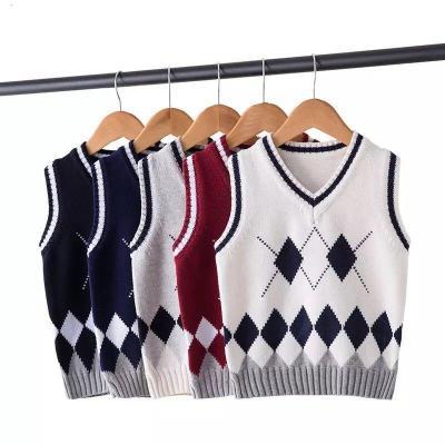 兒童馬甲男童女童毛衣馬甲中大童毛線背心針織衣學生校服班服定制