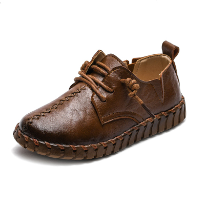 儿童皮鞋男童黑色英伦2019新款春秋童鞋豆豆宝宝大中小学生演出鞋