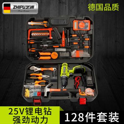 德國芝浦家用電鉆工具箱多功能五金工具套裝電工木工維修工具組套(12V雙速鋰電鉆款)勇士套裝