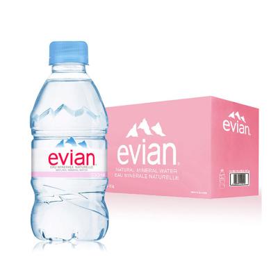 【欢乐颂安迪同款】依云(evian)矿泉水 330ml*24瓶/箱 进口饮用水 矿物质水 法国进口