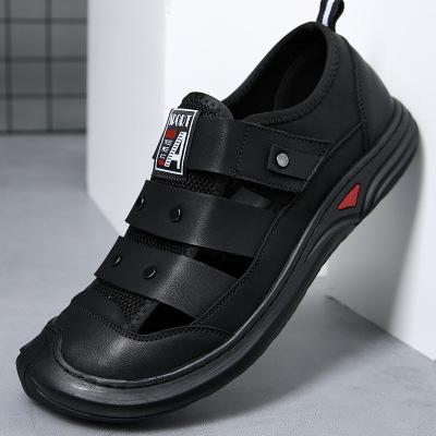 策恩公牛2020新款男士涼鞋夏季潮流包頭沙灘鞋軟底外穿跨境涼皮鞋