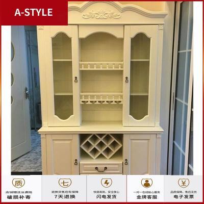 蘇寧放心購歐式全實木酒柜美式靠墻餐邊柜 定制1.5米組合玻璃客廳飯廳A-STYLE