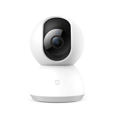 小米(MI)米家智能攝像機云臺版白色1080P家用監控高清360度紅攝像頭