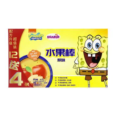 beakid 美國海綿寶寶固體果泥水果棒原味40g-盒裝 零食點心