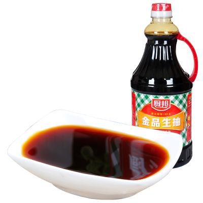 厨邦金品生抽1.25L瓶装 黄豆酱油 酿造酱油 鲜味生抽 厨房调味品调料 凉拌菜炒菜烹饪料 火锅蘸料