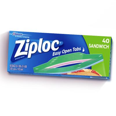 密保諾(Ziploc)美國進口 零食 密實袋 保鮮袋 非保鮮膜 40個 全美熱賣品牌