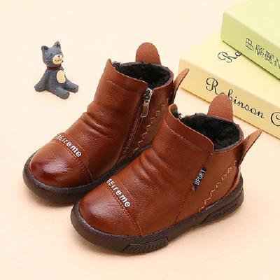 1-2-3-4-5-6岁儿童加绒小短靴男童棉鞋宝宝鞋女童短靴子秋冬棉鞋 莎丞