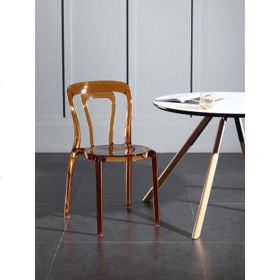 杞沐北歐亞克力透明椅時尚鏤空水晶椅書桌椅靠背餐椅酒店宴會椅接待椅