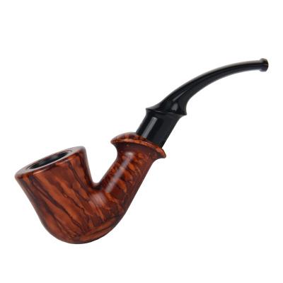 SANDA经典怀旧入门烟斗 烟斗斗 胶木弯式烟斗循环过滤烟斗 男士精品 SD-772棕