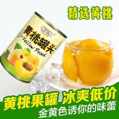 【中华特色】丰县馆 桃又淘精选黄桃罐头 425g*1瓶装 新鲜水果罐头 对开黄桃方便速食 华东