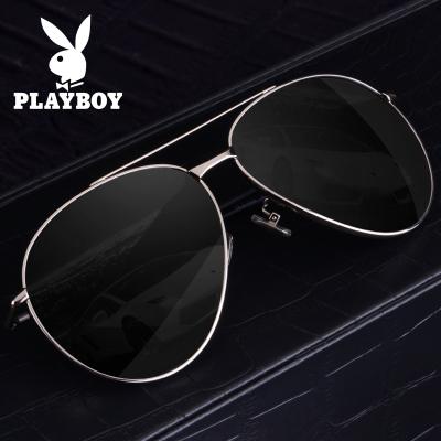 花花公子太阳镜男士开车专用 2019新款无框太阳眼镜 树脂镜片偏光镜通用款