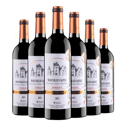 法國原瓶進口 波爾多產區 AOC 波藍堡 貴族酒莊 干紅葡萄酒 13.5度750ml*6瓶整箱裝