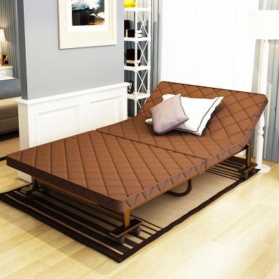 HOTBEE简易折叠床办公室午休床加固经济型双人床乳胶垫单人床家用