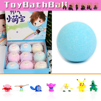 【專營好貨】9顆卡通泡澡球兒童玩具沐浴球日本奧特曼入浴球寶寶泡泡浴球 寵物精靈系列9顆內藏寵物精靈公仔