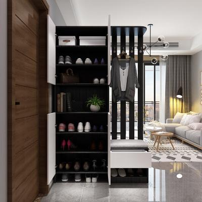 汐巖進玄關柜鞋柜一體現代簡約入戶家用客廳口玄關輕奢風隔斷屏風