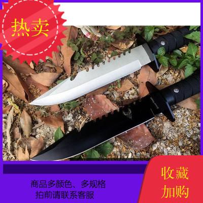戶外刀具軍工刀防身刀戰術直刀長款特戰軍刀求生刀一體隨身野營刀