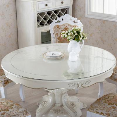 迈布庭 防水防烫防油免洗桌布软塑料玻璃PVC圆桌桌垫台布圆形餐桌垫水晶板免费裁剪可定制