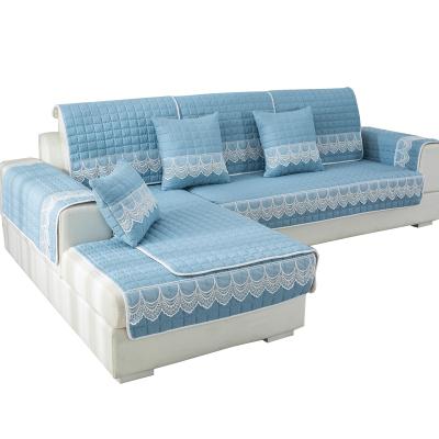 【兩件八折】靜欣家居 四季可用背面防滑沙發墊可定做大尺寸沙發床巾沙發罩小清新現代簡約沙發套