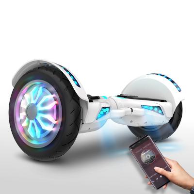 阿尔郎(AERLANG)智能平衡车儿童双轮电动体感思维越野10吋扭扭车 N2-F白色