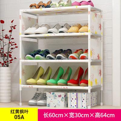 简易鞋架 无纺布铁艺多层组装鞋柜客厅卧室门口防尘收纳鞋架子