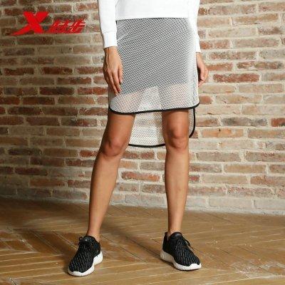 特步女子球裙夏季新款超輕運動裙時尚簡約寬松舒適運動短裙