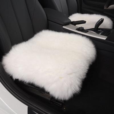 邁古(MG)【單座款】 冬季汽車坐墊毛絨保暖羊絨仿羊毛座墊冬天長毛車墊子通用-默認發白色 其它需備注