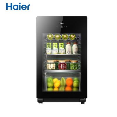 海爾(Haier)LC-102E 102L側開門冰吧 茶葉柜 母嬰冰箱 展示柜 飲料柜 雪茄柜 冷藏柜 酒柜 客廳冰箱