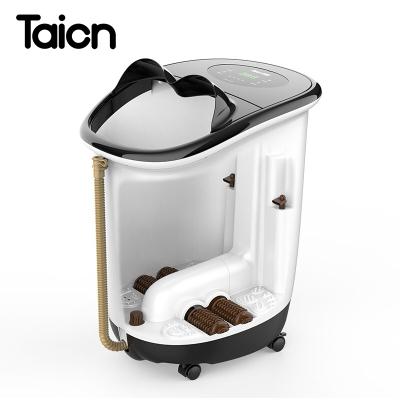 泰昌(Taicn)TC-Z5900足浴盆全自動加熱按摩洗腳盆電動泡腳盆深桶足療器恒溫家用漏電保護電動滾輪沖浪加熱遙控功能