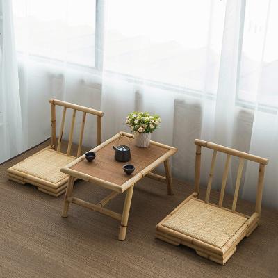 亮晶晶简约榻榻米茶几竹藤飘窗桌日式小茶几创意茶桌椅实木炕桌禅意矮桌