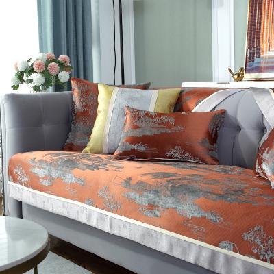 原色馨居 新中式沙發墊四季輕奢花邊復古沙發套布藝罩巾蓋布防滑坐墊巾